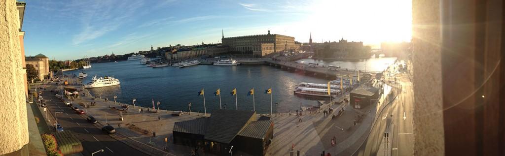 Utsikt från Grand Hôtel mot Stockholms slott