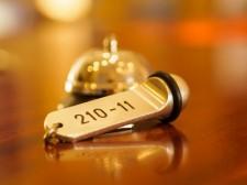 Hotel klocka och nyckel